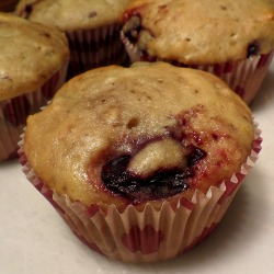 Sweet Cherry Muffins with Coconut