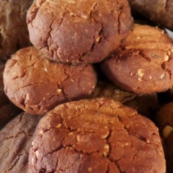 Tahini Cookies with Grape Molasses