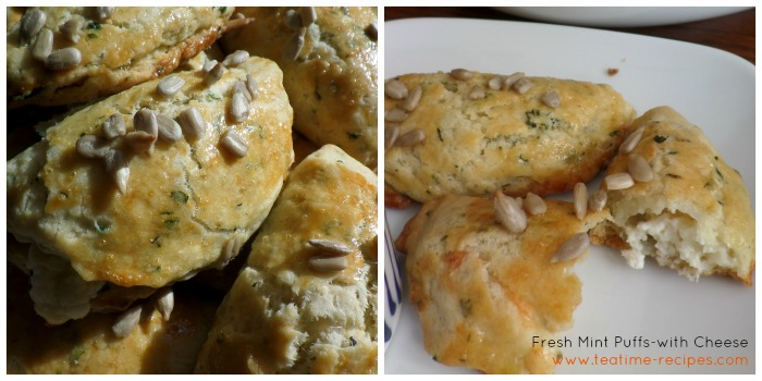 Fresh Mint Puffs with Cheese